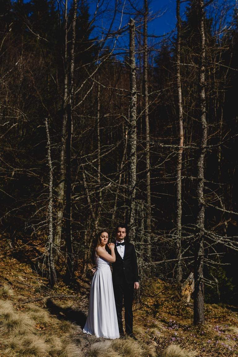 Natalia i Artur 347 krokusy, oryginalny plener ślubny, plener ślubny, sesja ślubna, sesja w tatrach
