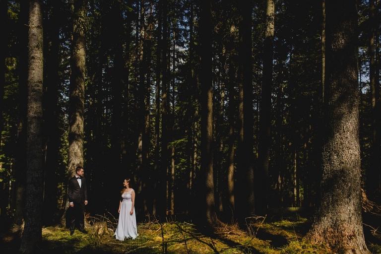 Natalia i Artur 375 krokusy, oryginalny plener ślubny, plener ślubny, sesja ślubna, sesja w tatrach