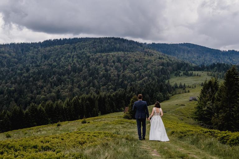 Ania i Adam | Kiedy w górach pada deszcz | Sesja ślubna 11