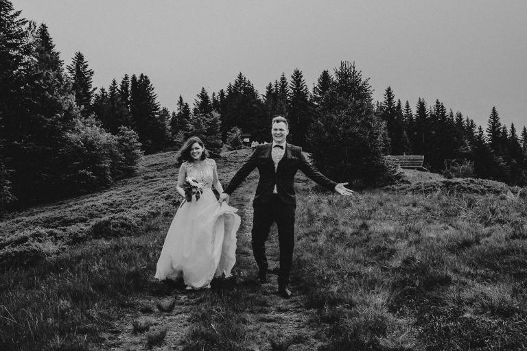 Ania i Adam | Kiedy w górach pada deszcz | Sesja ślubna 13