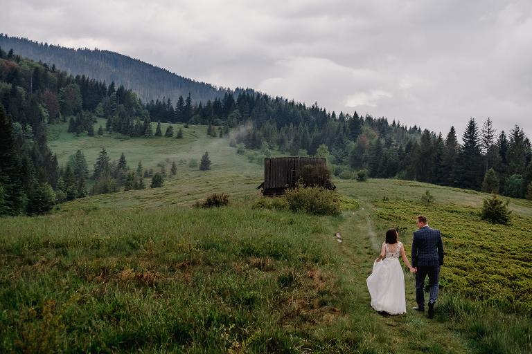 Ania i Adam | Kiedy w górach pada deszcz | Sesja ślubna 27
