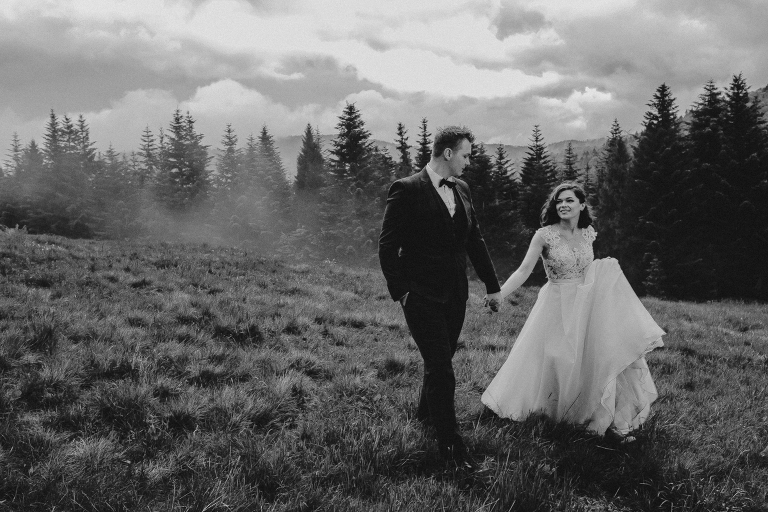 Ania i Adam | Kiedy w górach pada deszcz | Sesja ślubna 45
