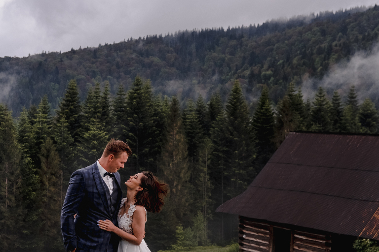 Ania i Adam | Kiedy w górach pada deszcz | Sesja ślubna 49