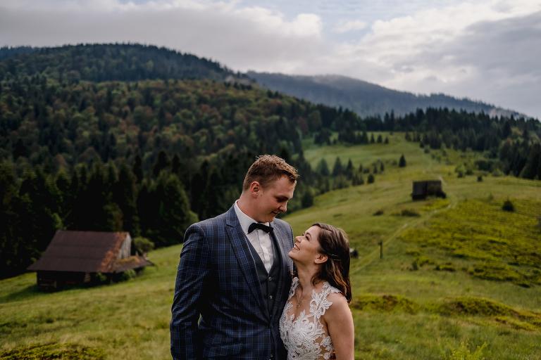 Ania i Adam | Kiedy w górach pada deszcz | Sesja ślubna 79