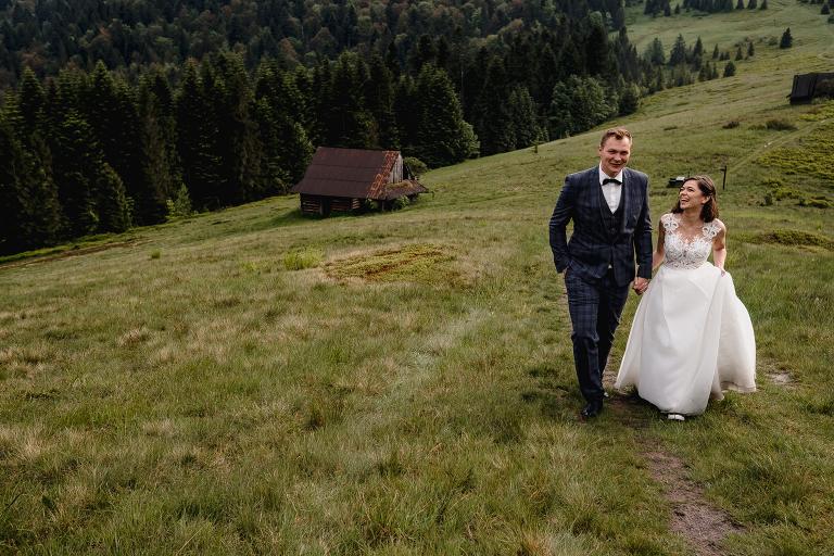 Ania i Adam | Kiedy w górach pada deszcz | Sesja ślubna 81