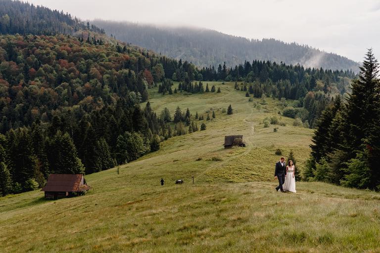 Ania i Adam | Kiedy w górach pada deszcz | Sesja ślubna 77